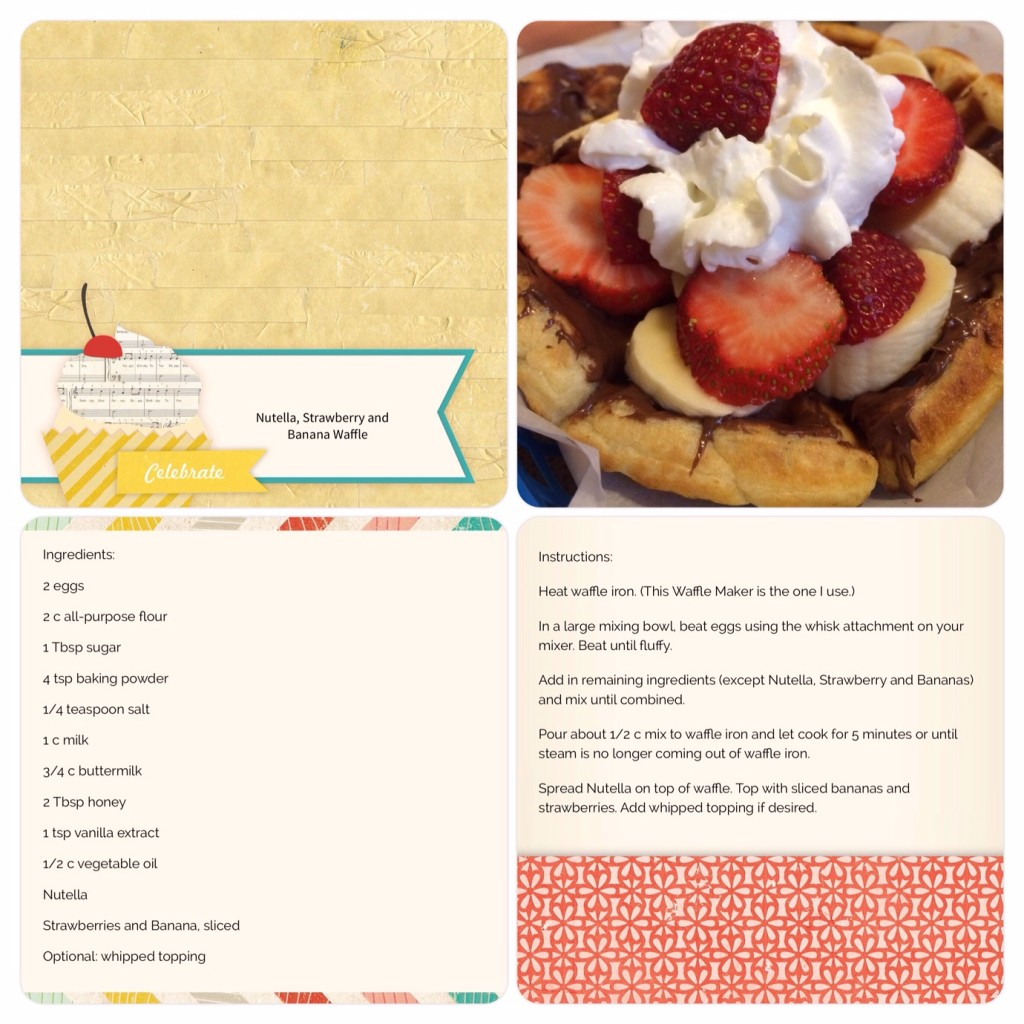 SB Page Nutella Strawberry Banana Waffle