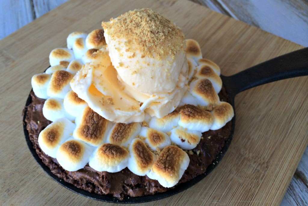 Skillet Smores Brownies