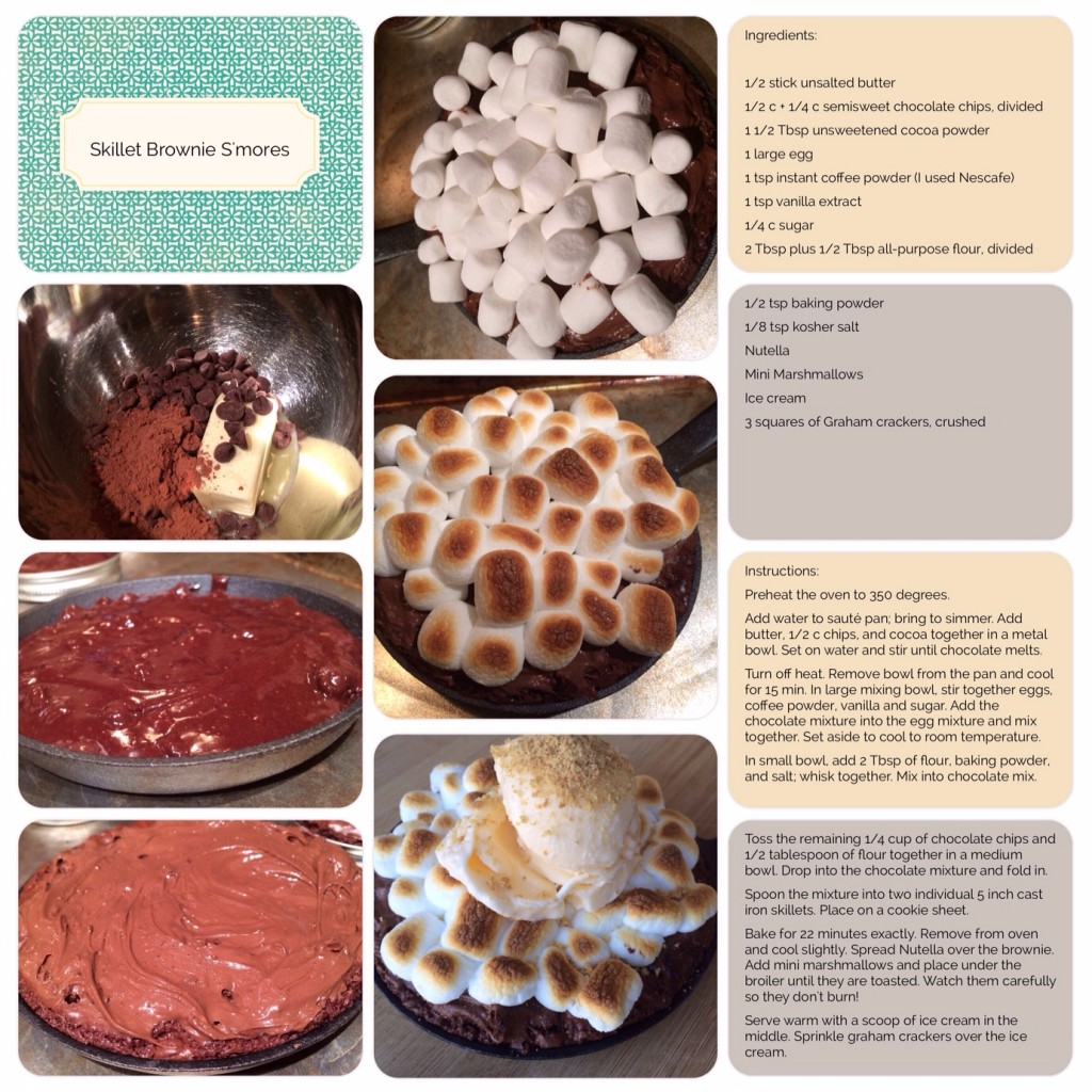Skillet Smores Brownies Scrapbook page