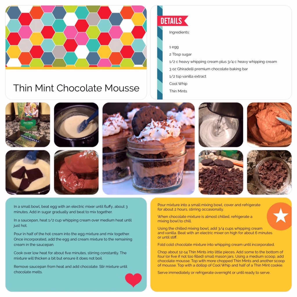 Thin Mint Chocolate Mousse Scrapbook Page