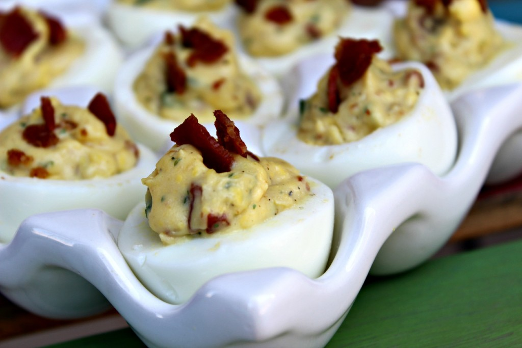 Bacon Ranch Deviled Eggs for Two