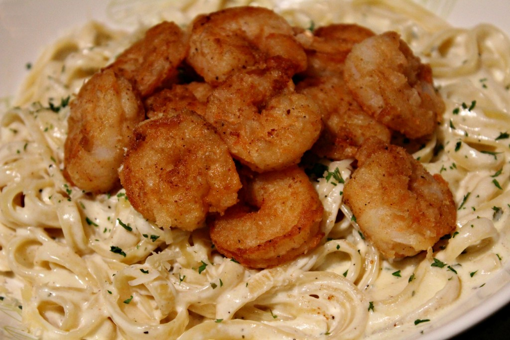 Crispy Shrimp Pasta in a Creamy Boursin Sauce