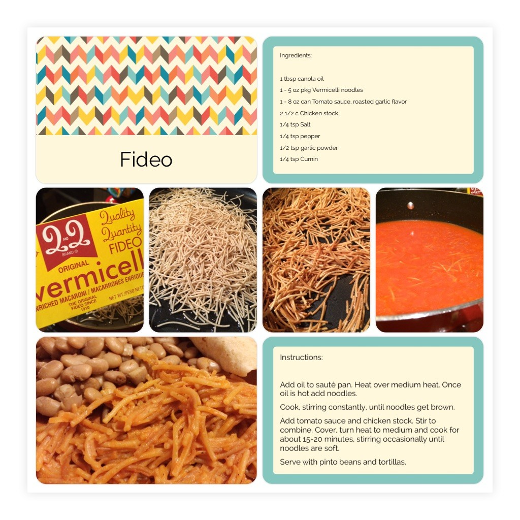 Fideo Scrapbook page