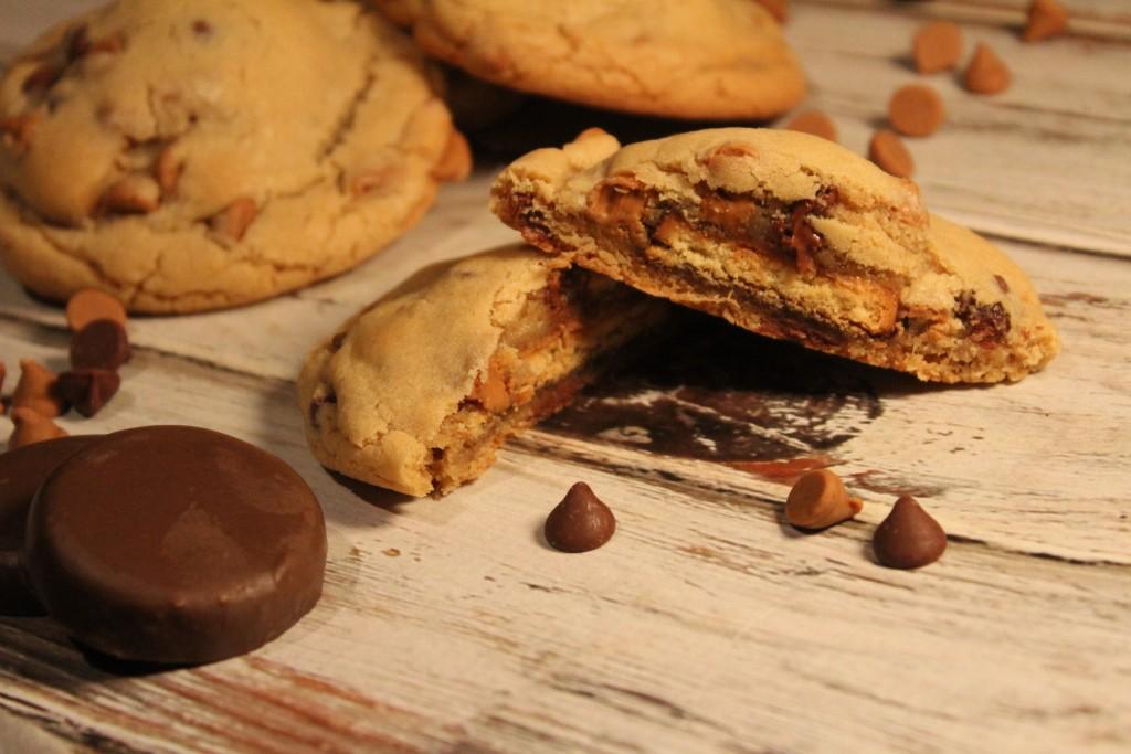 Peanut Butter Patties Stuffed Cookies