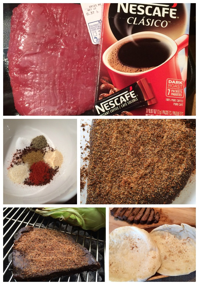 Coffee Marinated Flank Steak Collage