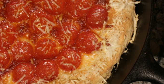 Skillet Pepperoni Pizza
