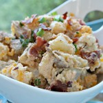 Bacon Ranch Baked Potato Salad