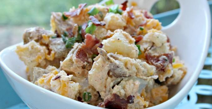 Bacon Ranch Baked Potato Salad
