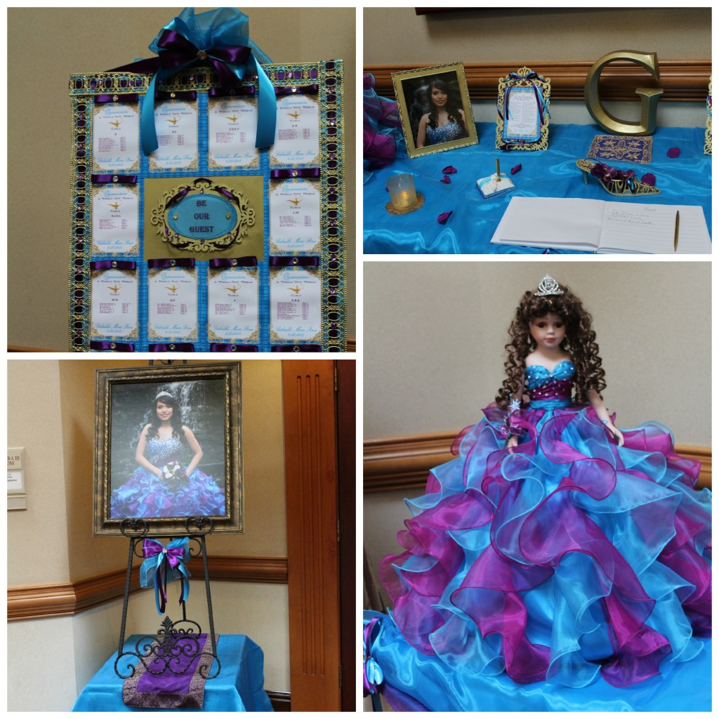 Quinceanera Entrance Table Collage