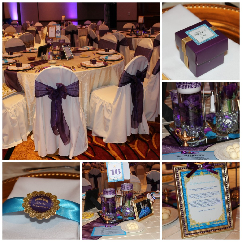 Quinceanera Table Collage