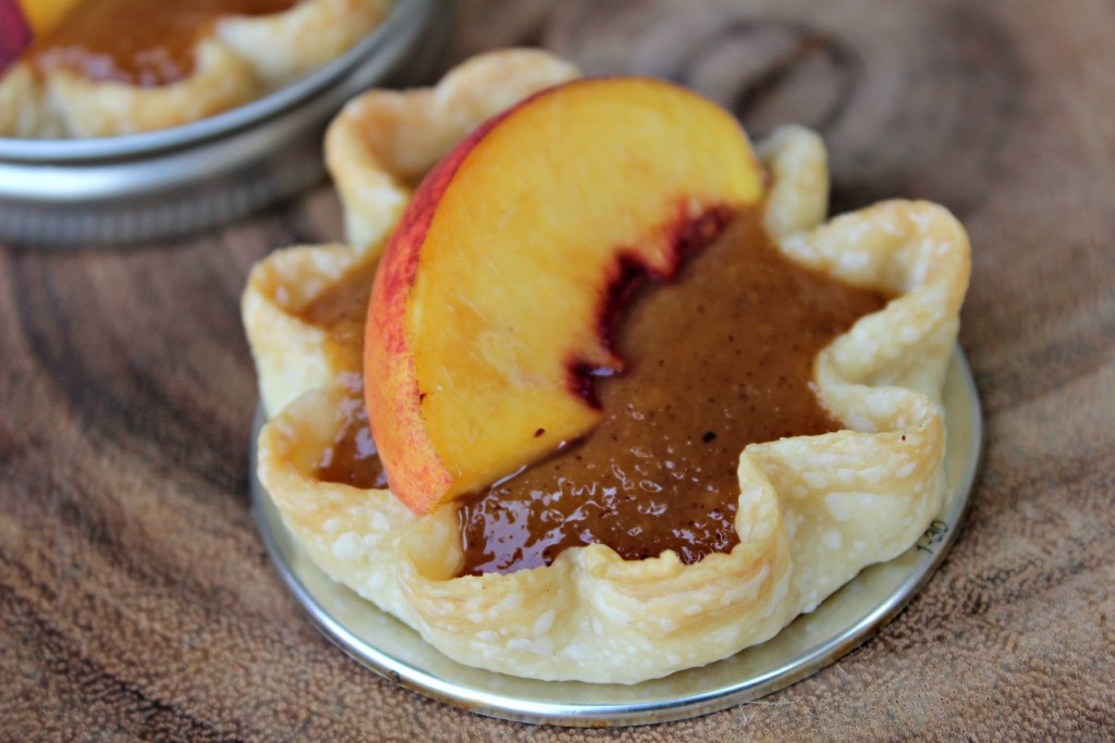 Mini Glazed Peach Pies