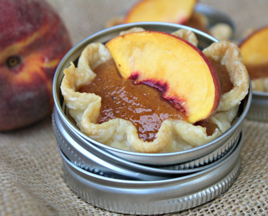 Mini Glazed Peach Pie @addicted2recipe