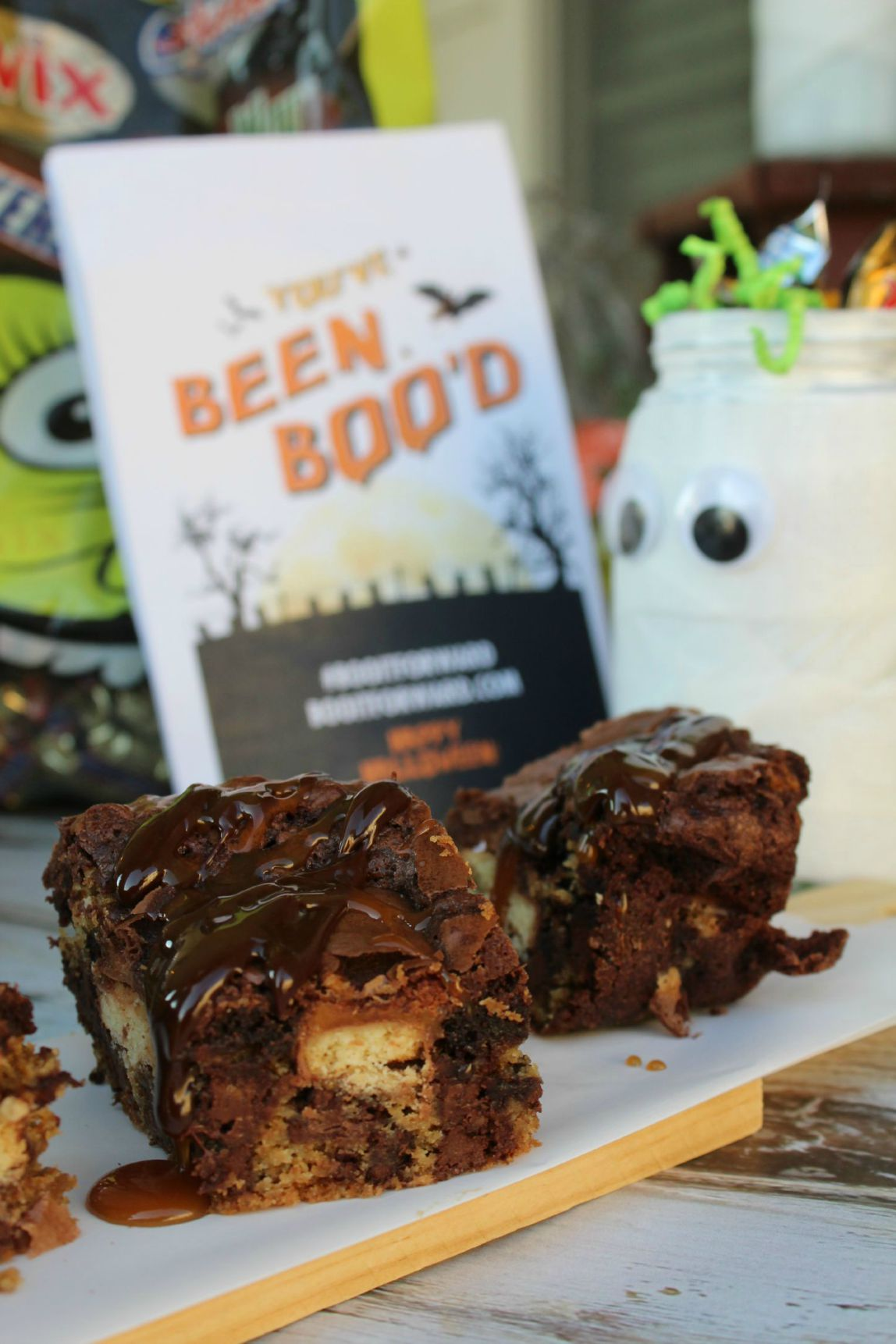 Ooey Gooey Chocolate Chip Brown BOO Bars