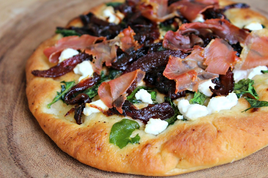 Prosciutto, Goat Cheese and Onion Marmalade Pizza