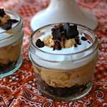 Pumpkin Mousse and Triple Chocolate Brownie Bliss Bites #SmarterTreats