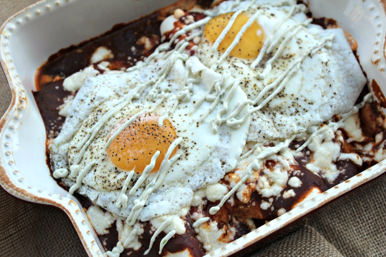 Sweet Potato, Queso Fresco and Black Bean Enchiladas