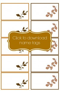 Thanksgiving Place cards downloadable pic