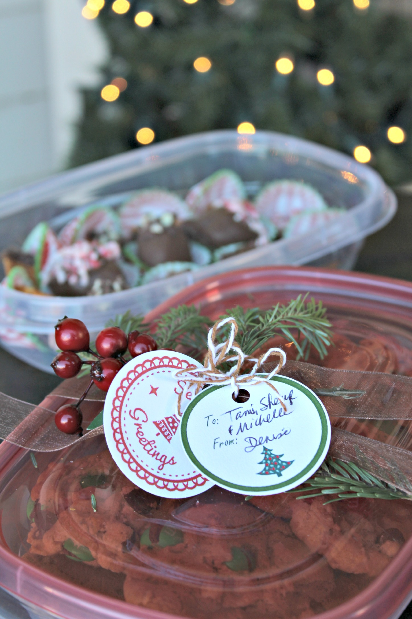 Chocolate Mint Truffles Rubbermaid TakeAlongs Tags