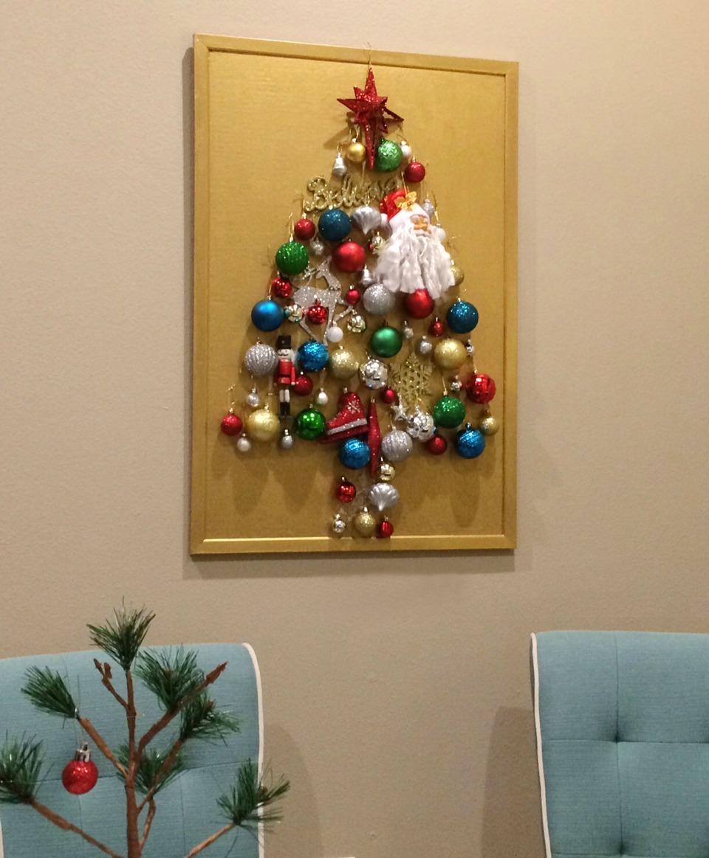 Christmas Tree on Bulletin Board