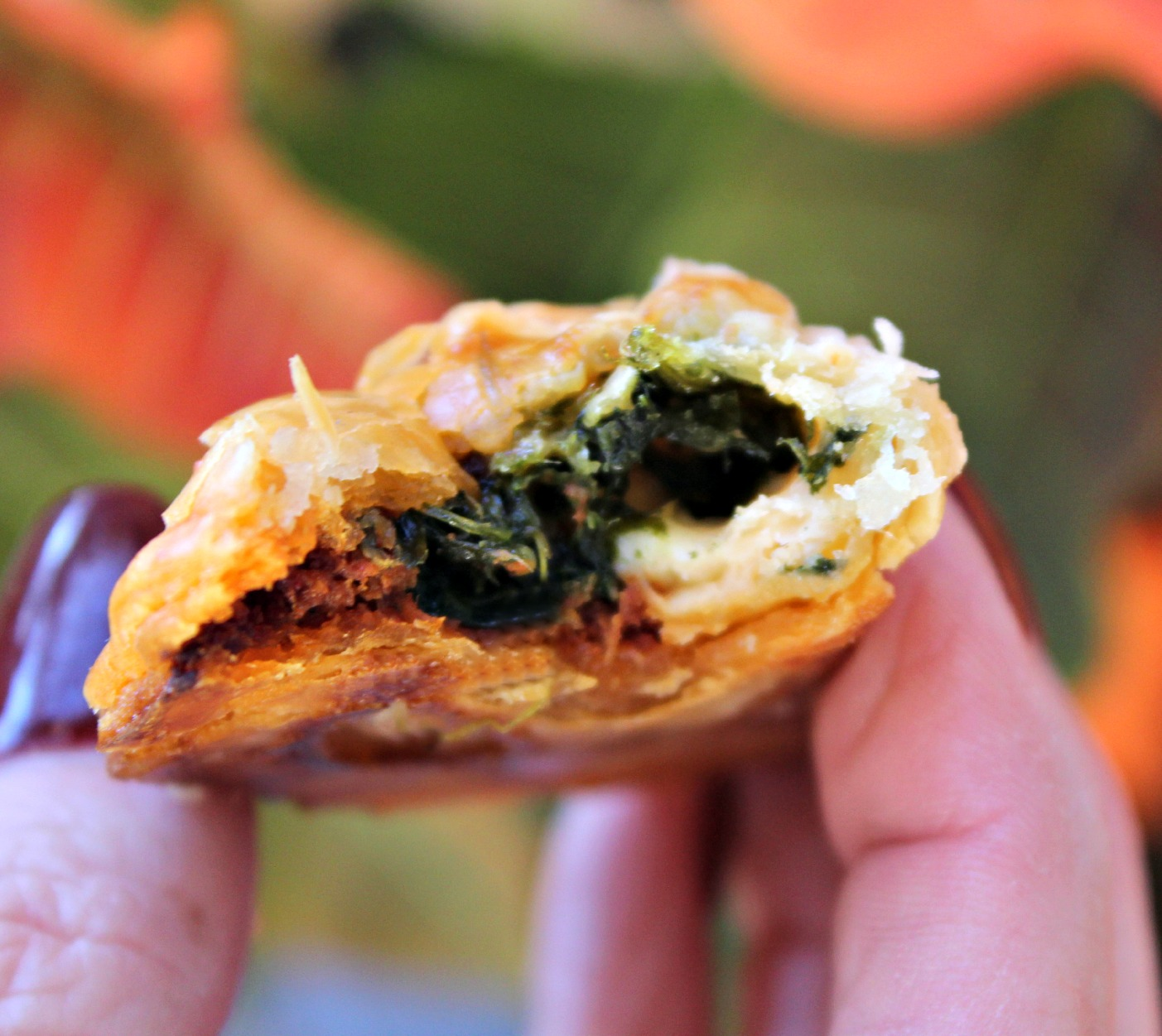 Spinach Chorizo & Cotija Empanada Closeup