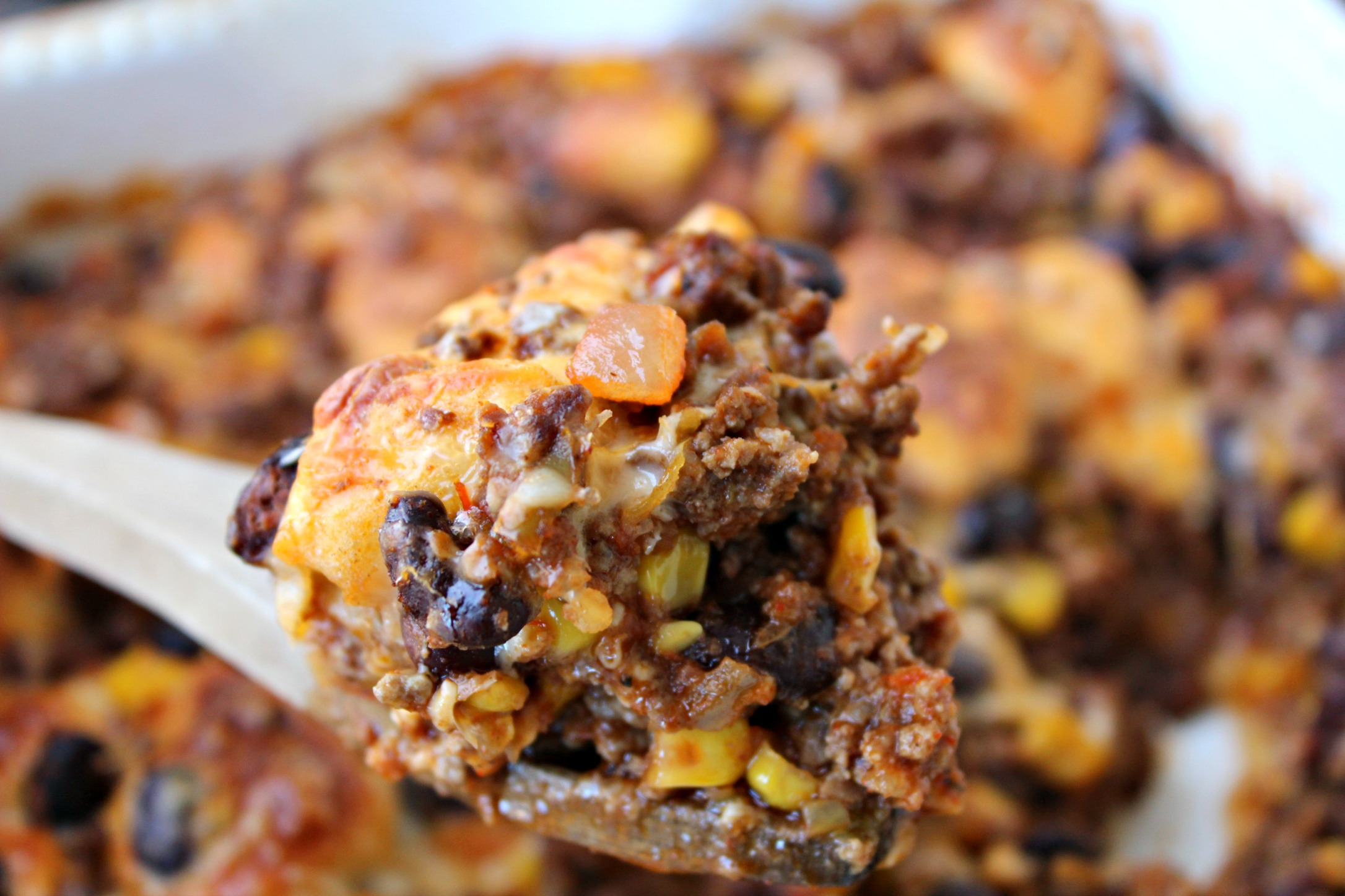 Bubble Up Taco Soup Casserole