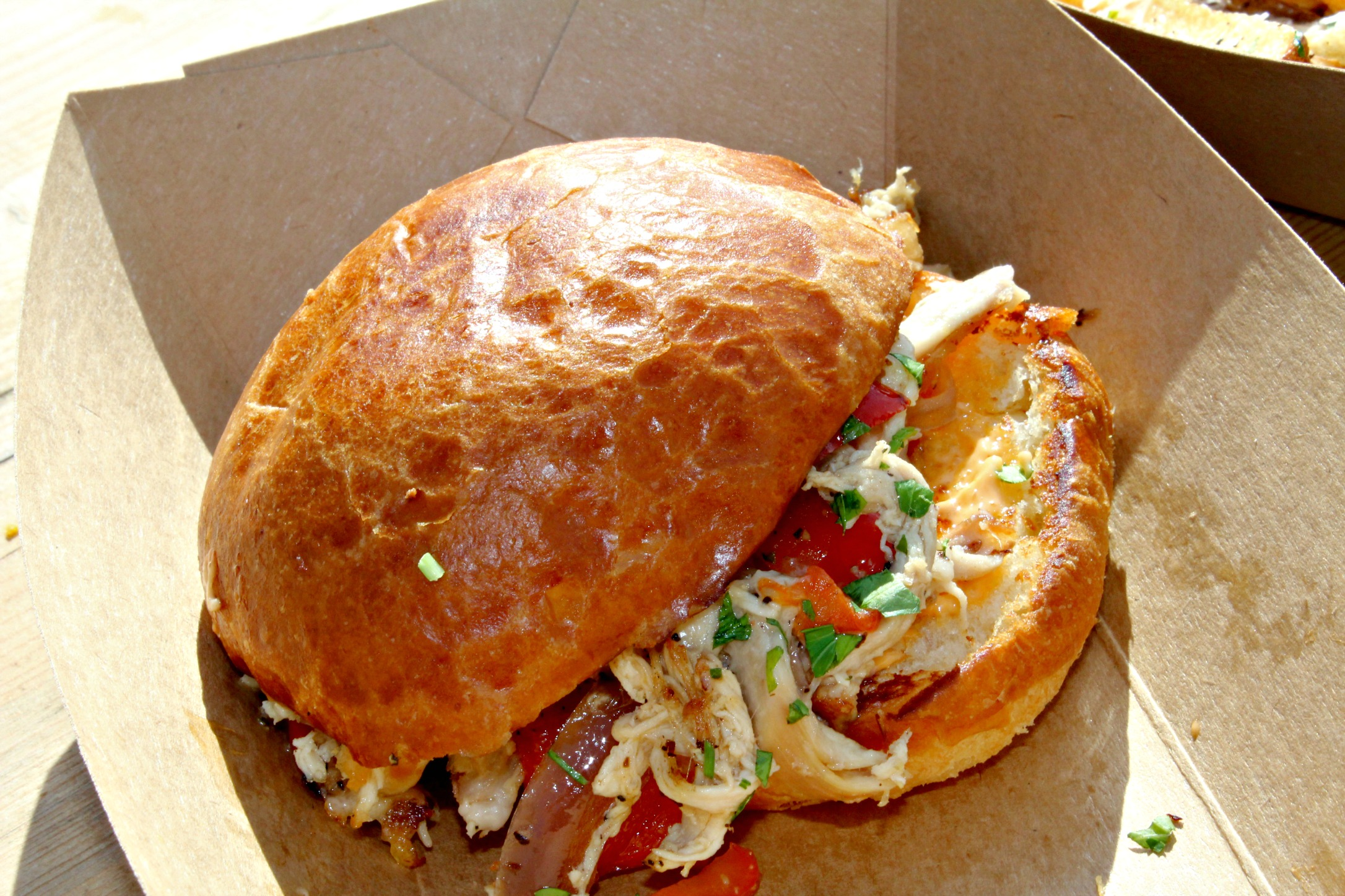 Magnolia Market Milo Food Truck Cripple Creek Chicken Sandwich