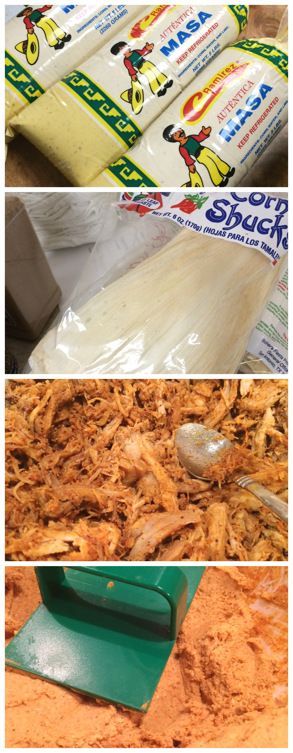 Simple Pork Tamales Collage