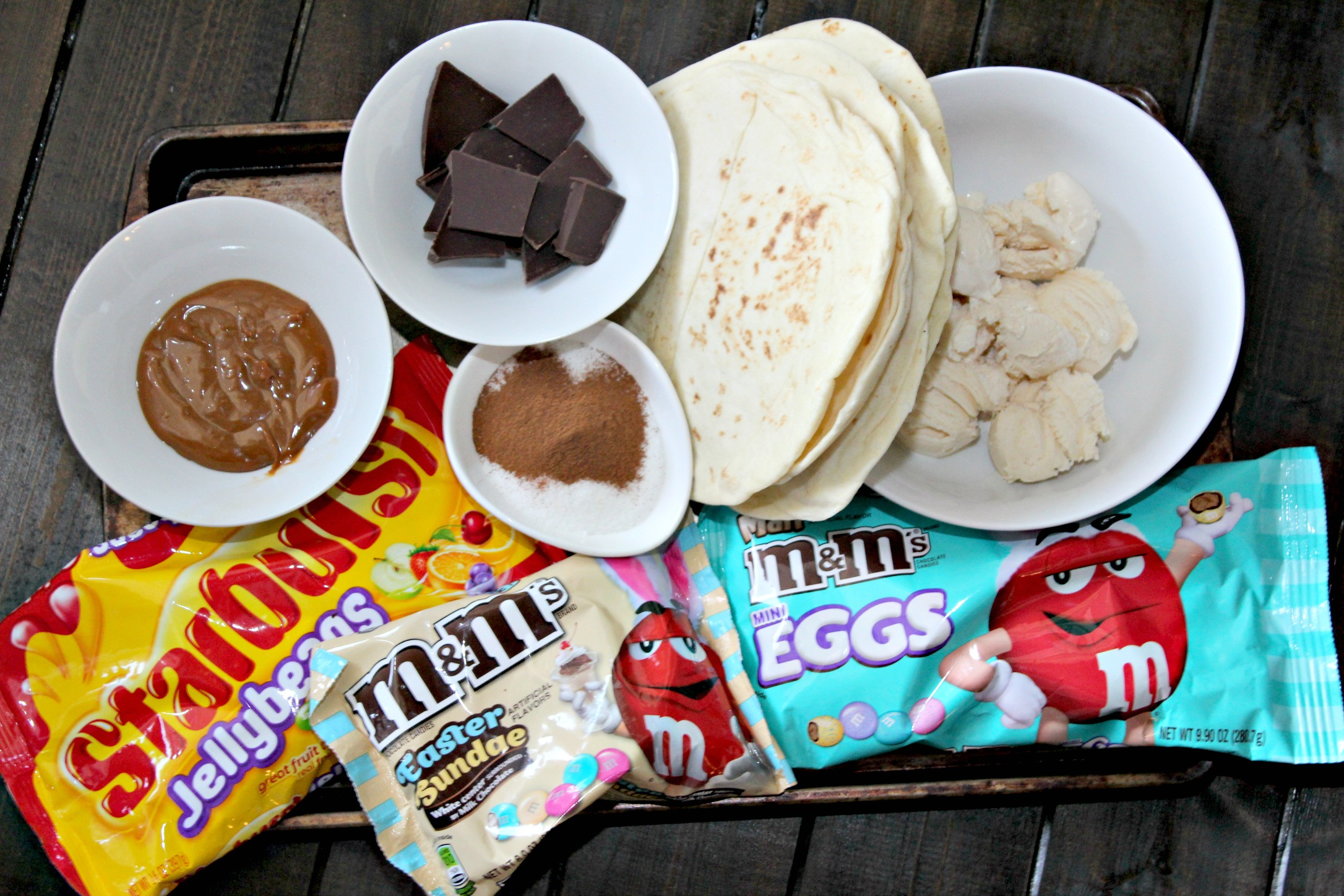 Chocolate Dessert Tacos Ingredients