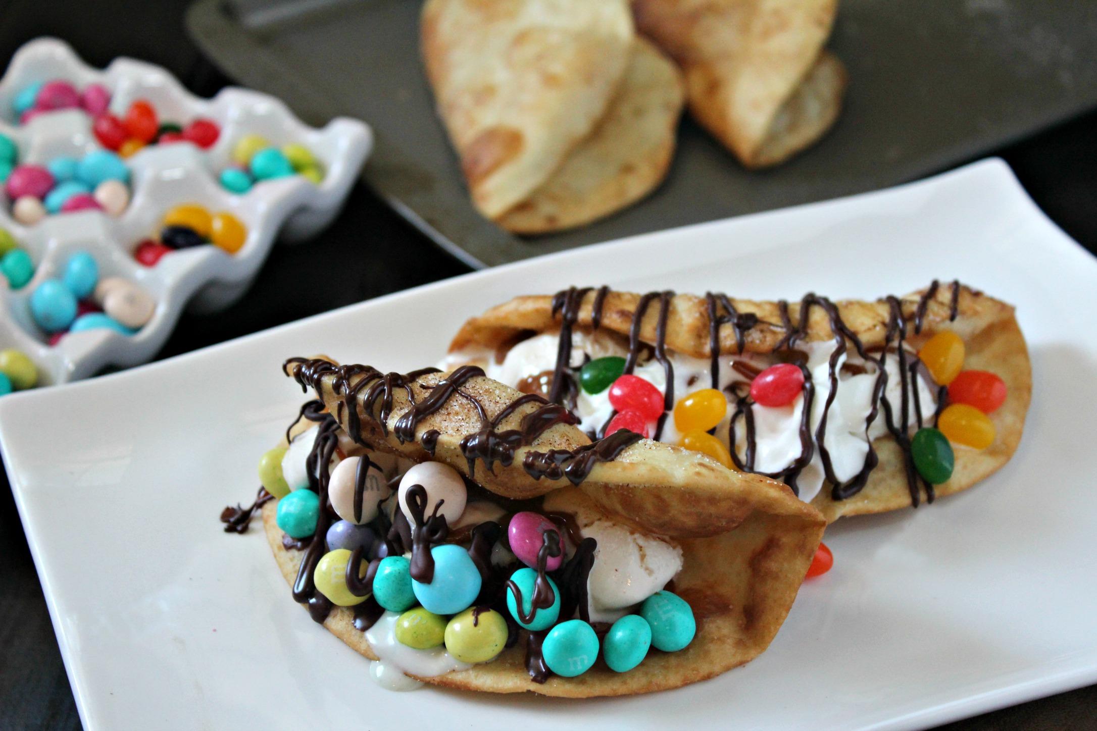 Chocolate Dessert Tacos