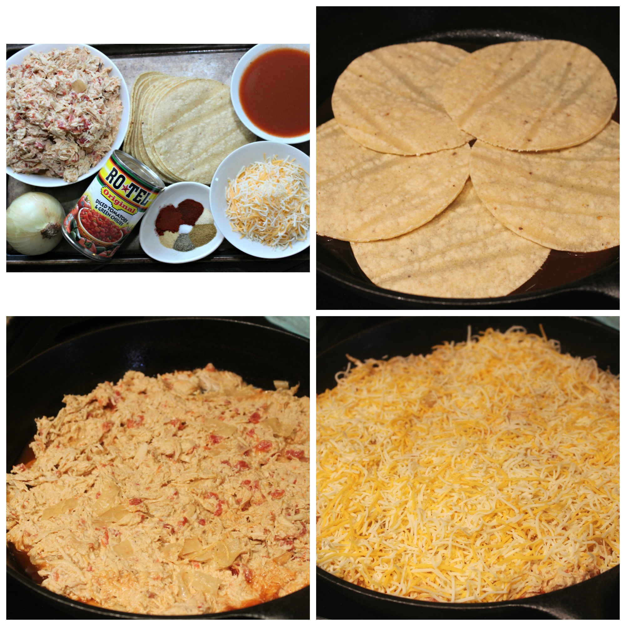 Creamy Chicken Enchilada Stack Collage
