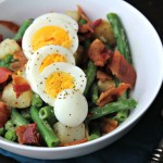 Green Bean, Potato, Bacon and Egg Salad for Two