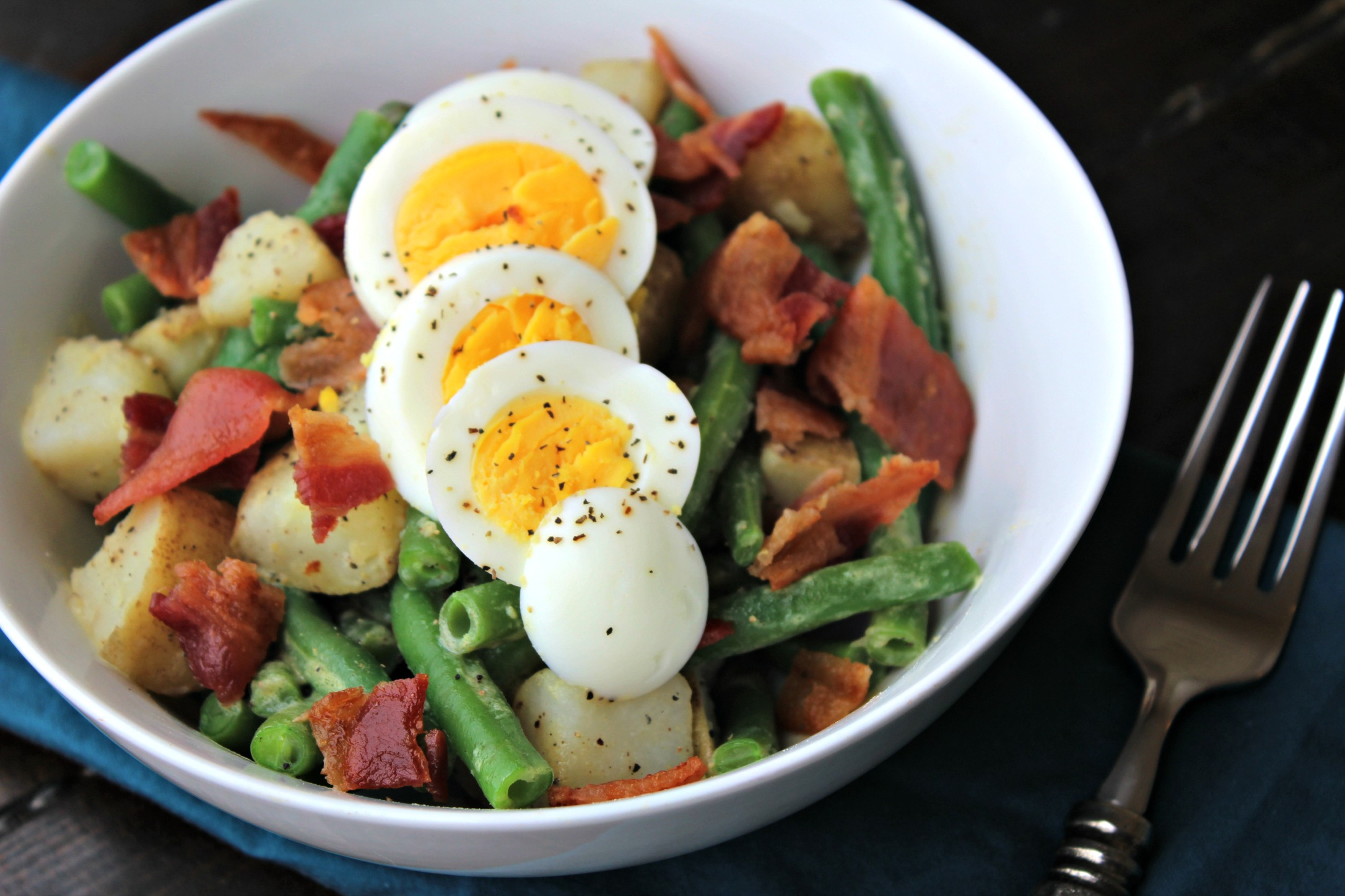 Green Bean, Bacon, Egg & Potato Salad