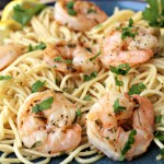 Lemony Shrimp Scampi for One