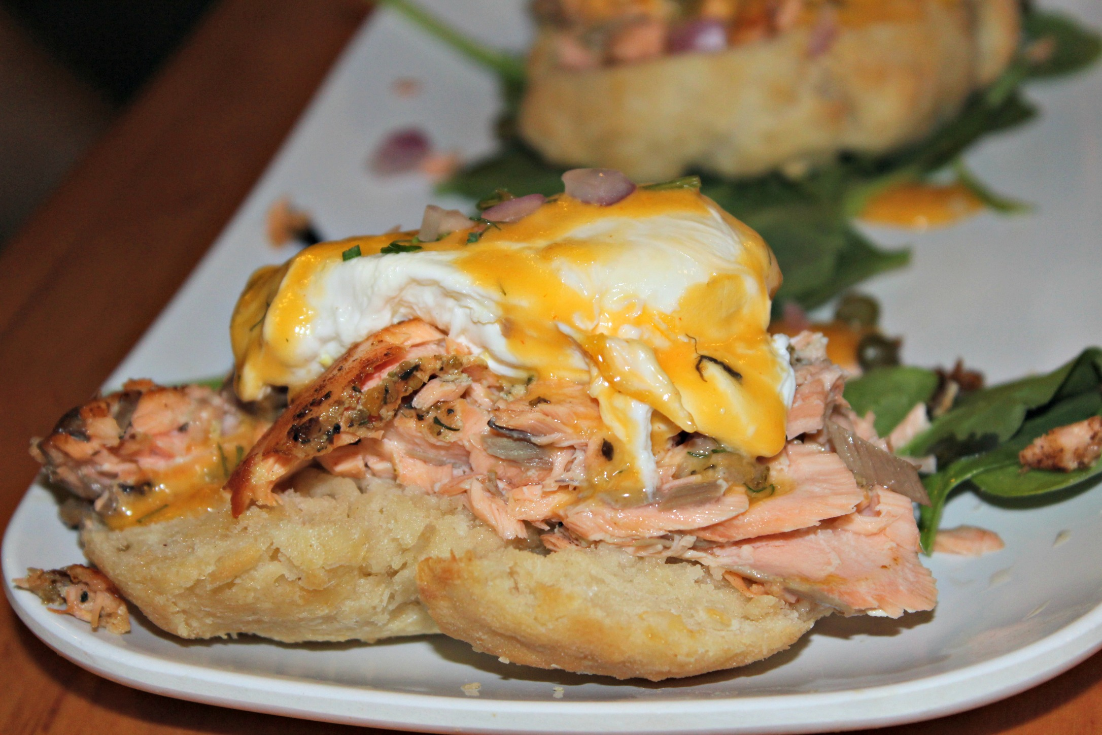 New Orleans The Ruby Slipper Hot Smoked Salmon Bennie