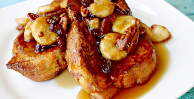The Ruby Slipper's Bananas Foster Pain Perdu aka French Toast
