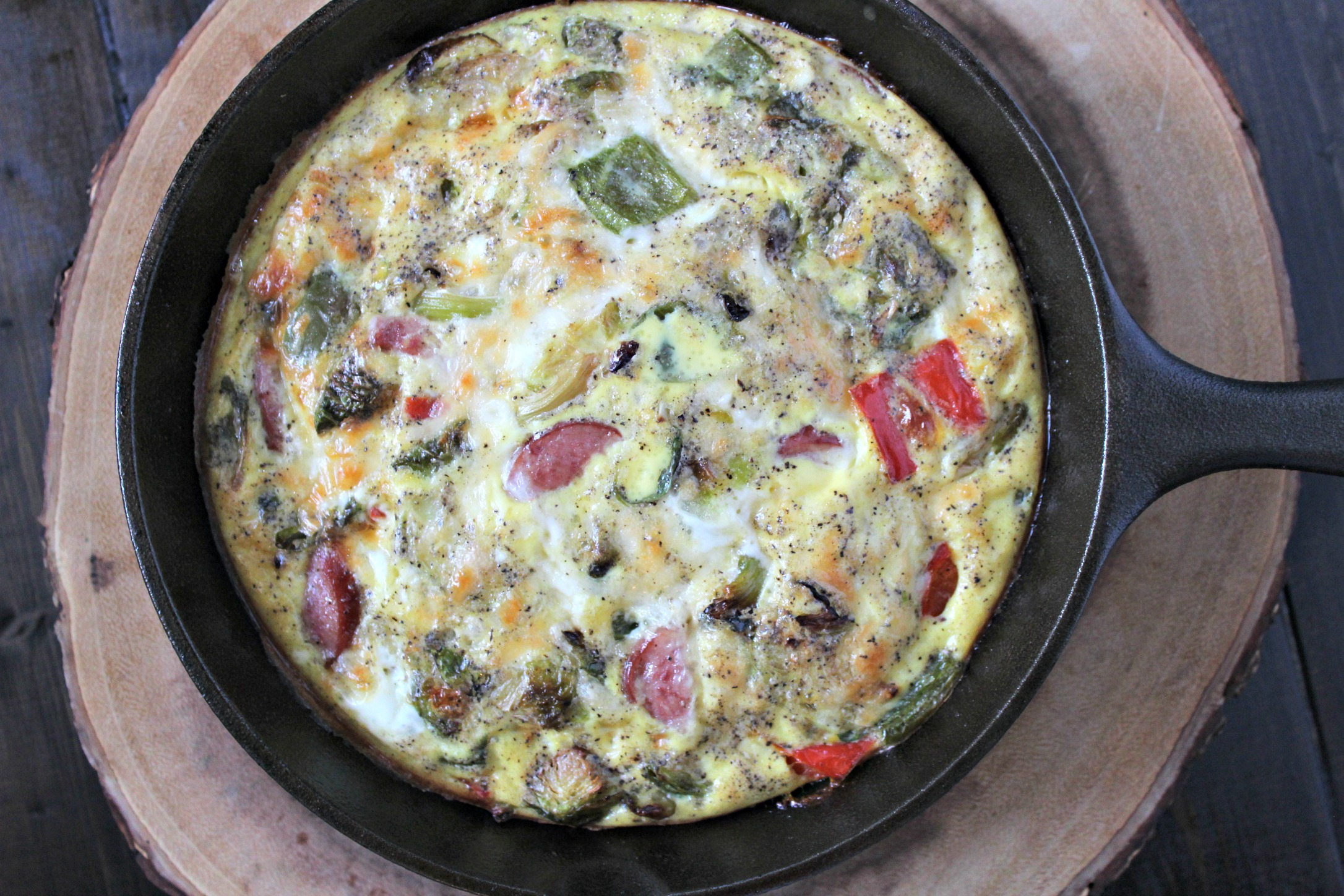 Brussel Sprouts & Turkey Sausage Frittata