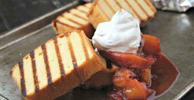 Grilled Pound Cake with Roasted Fruit #CookoutWeek