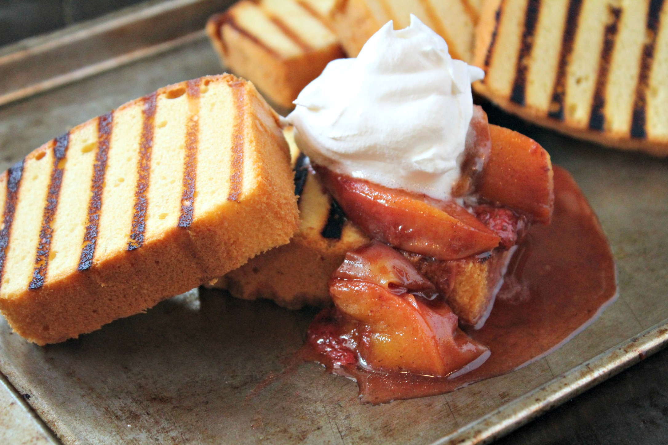 Grilled Pound Cake with Fruit