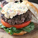 Smoked Gouda Pimiento Cheese Burgers #CookoutWeek