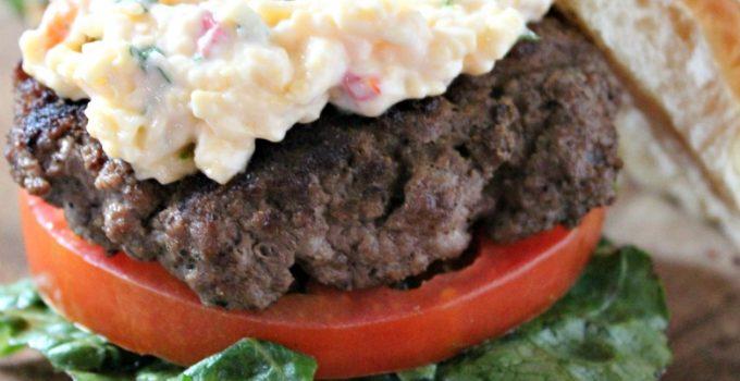 Smoked Gouda Pimiento Cheese Burgers #CookoutWeek