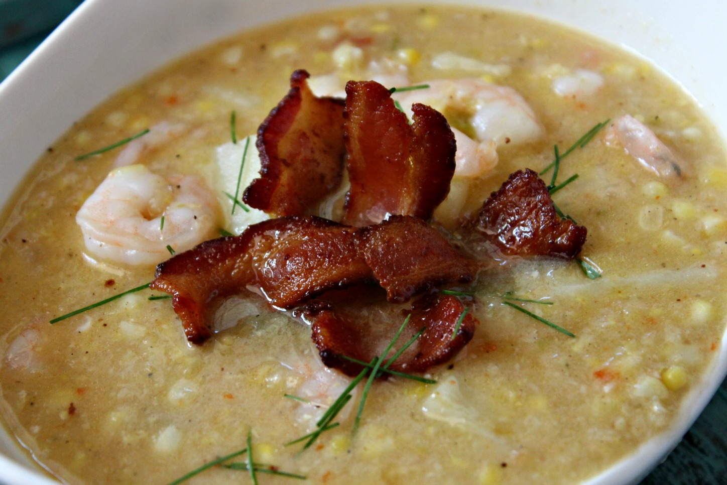 Bacon, Shrimp & Corn Chowder