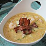 Small Batch Bacon, Shrimp and Corn Chowder