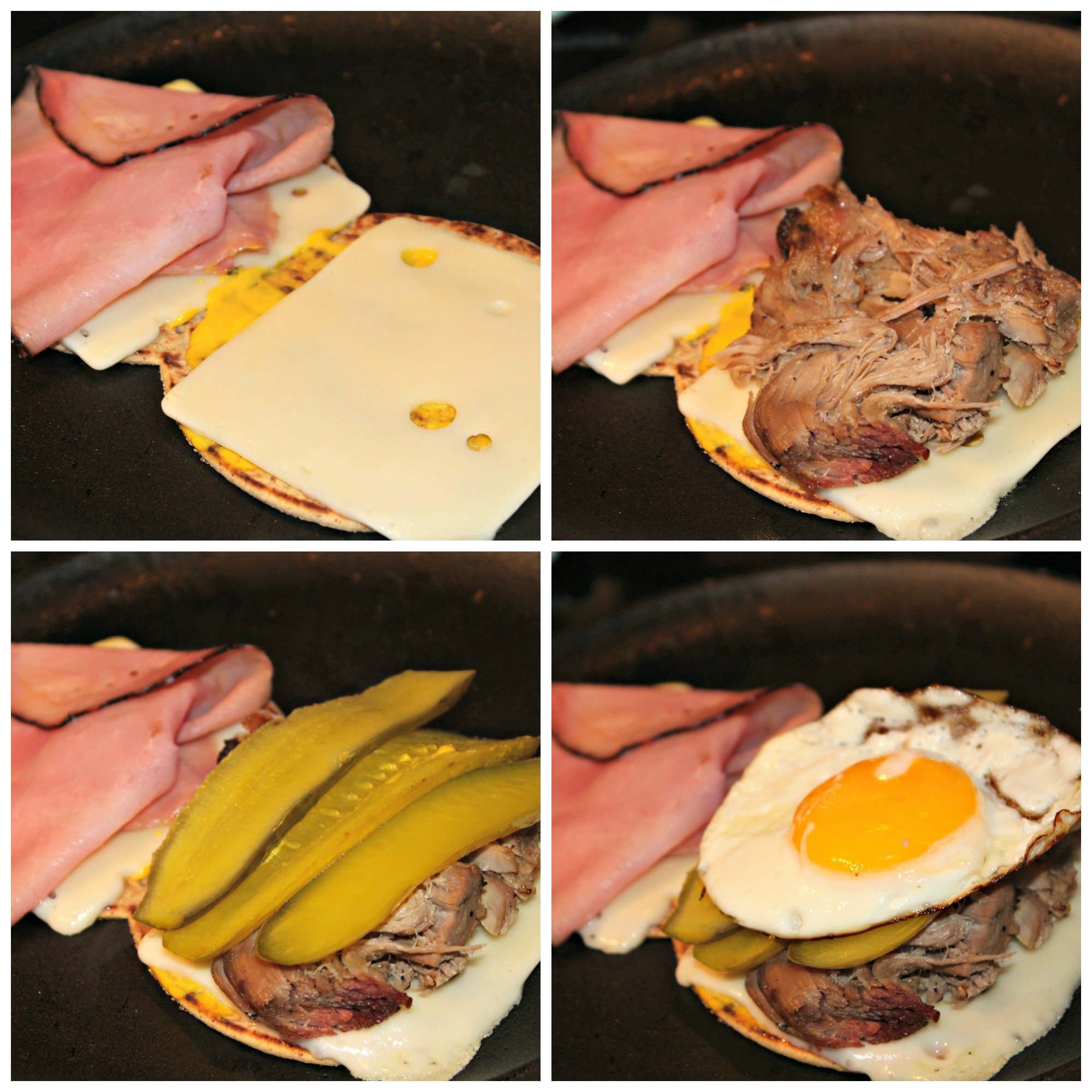 Elevated Cuban Sandwich Collage