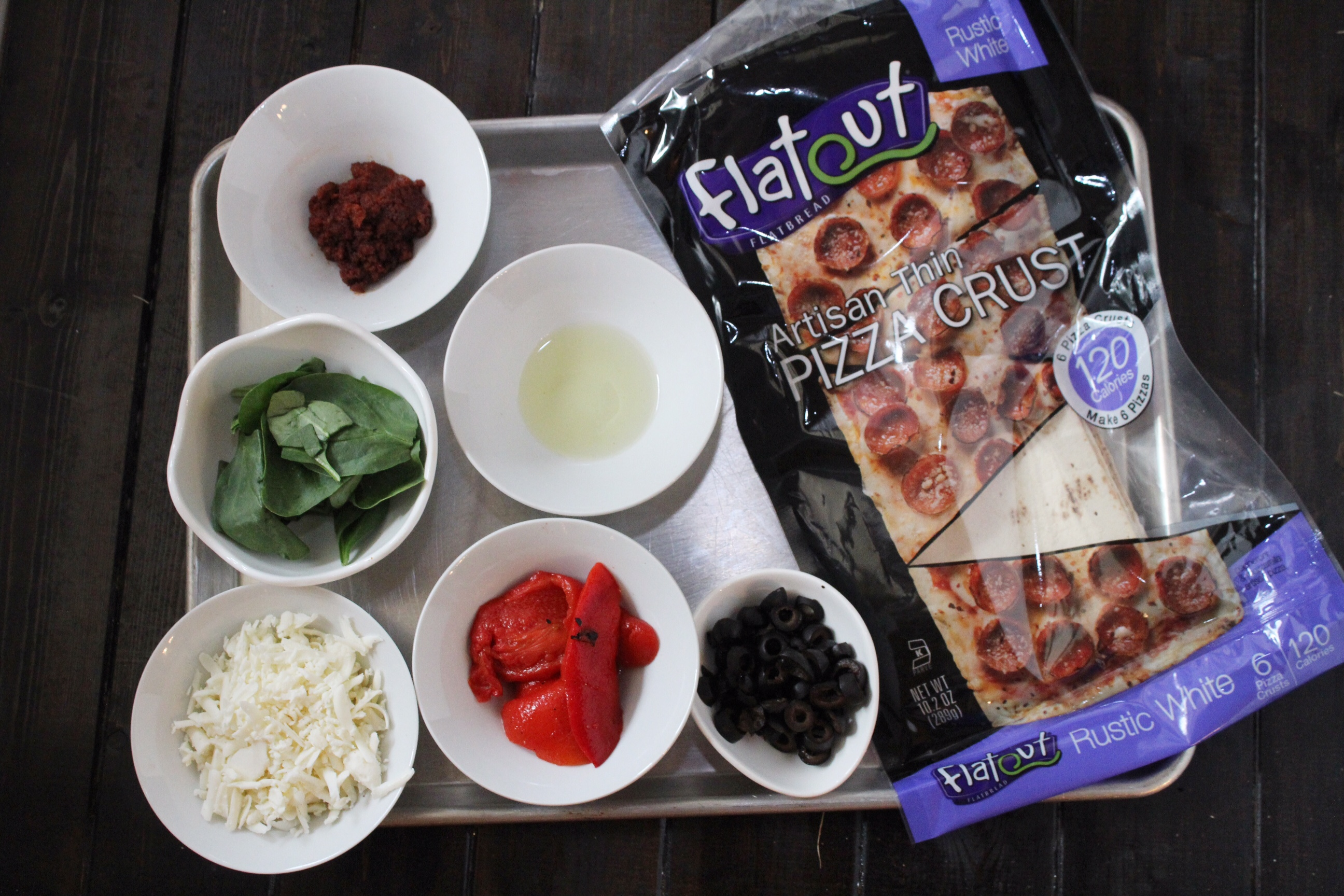 Spanish Tapas Flatout Pizza Ingredients