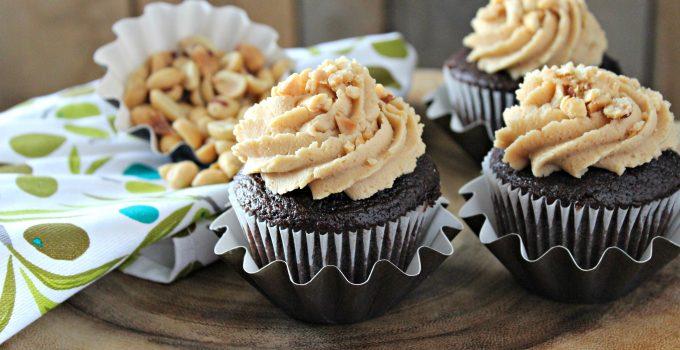 Chocolate Marshmallow Peanut Butter Cupcake
