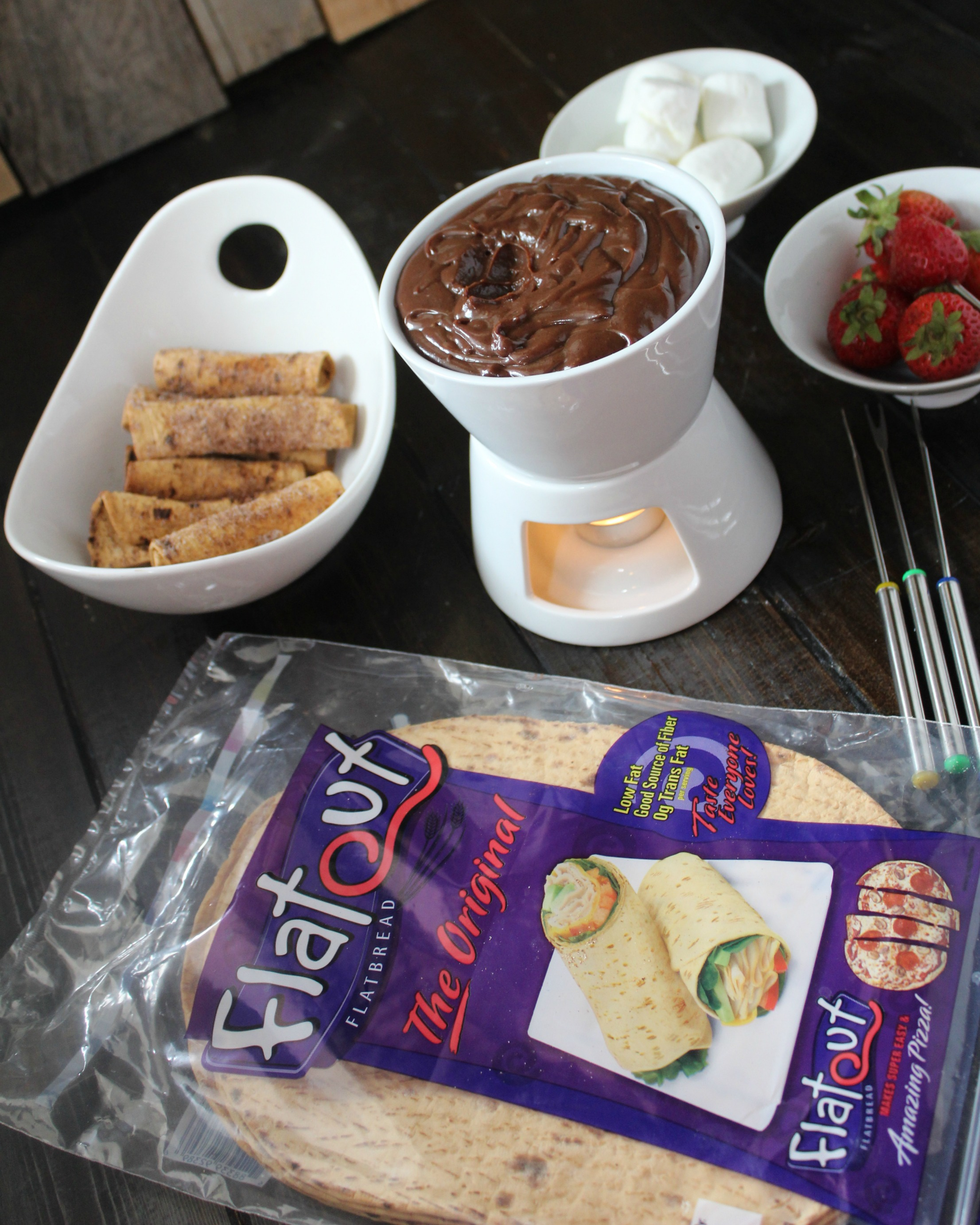Cinnamon Taquitos with Mexican Chocolate Fondue