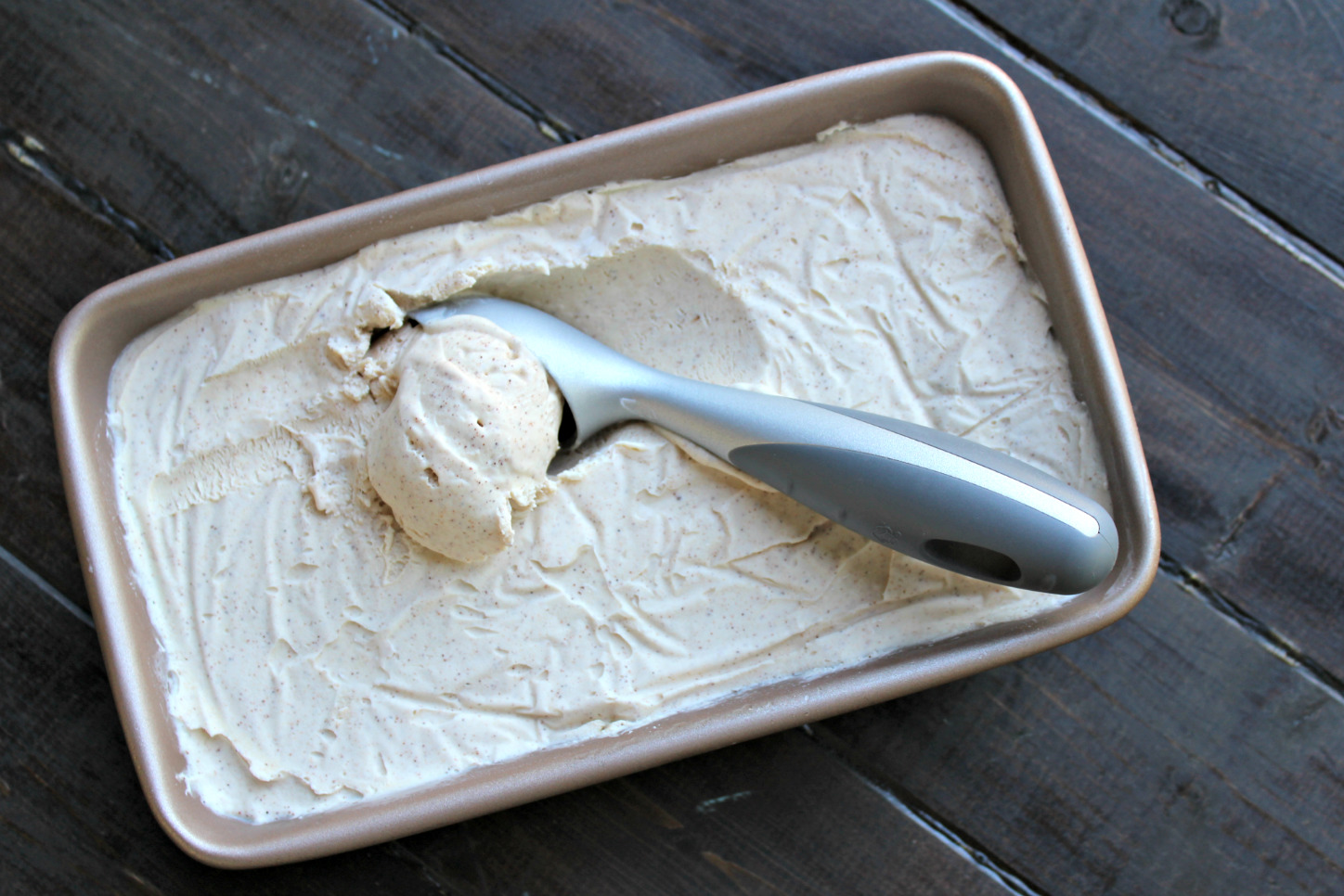 Snickerdoodle No Churn Ice Cream
