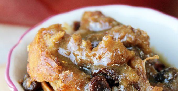 Capirotada Bread Pudding and Maple Sauce