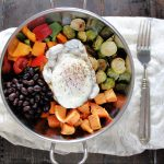 Sweet Potato and Brussels Sprouts Breakfast Bowl