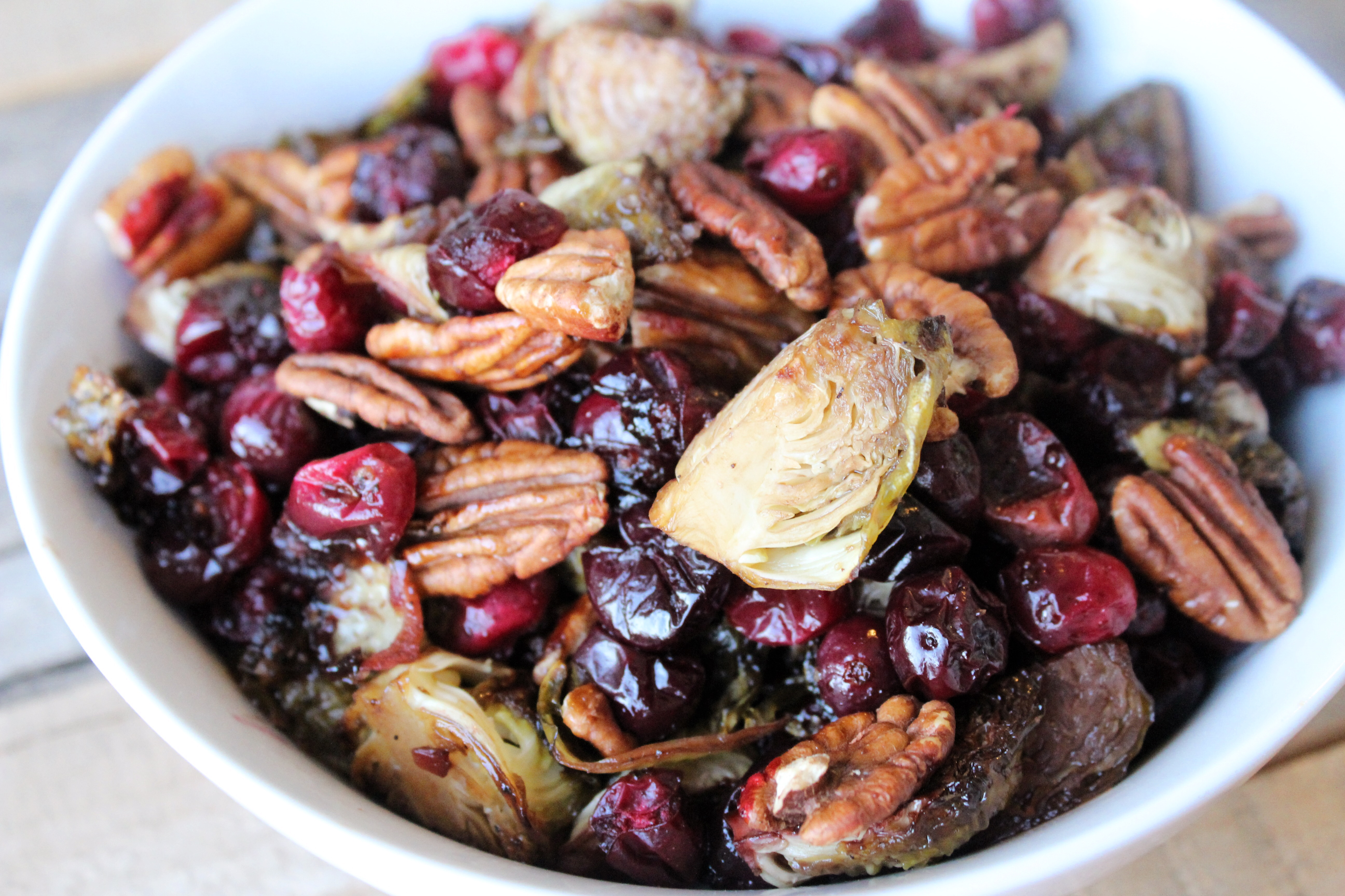 Roasted Brussels Sprouts, Cranberries and Pecans ...